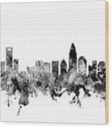 Charlotte North Carolina Skyline Wood Print