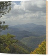 Cherohala Skyway In Autumn Color Wood Print
