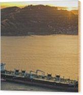 Chevron Pegasus Voyager Oil Tanker Wood Print