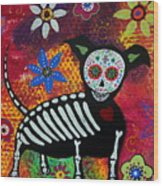 Chihuahua Day Of The Dead Wood Print