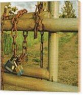 Padlocks And Chains Wood Print