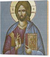 Christ Pantokrator Wood Print