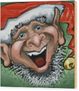 Christmas Elf Wood Print