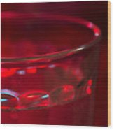 Christmas Theme Glass Of Water Wood Print
