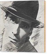 Christopher Lee, Vintage Actor Wood Print