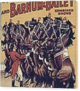Circus Poster, 1920s Wood Print