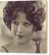 Clara Bow, Vintage Actress Wood Print