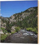 Clear Creek Canyon Wood Print