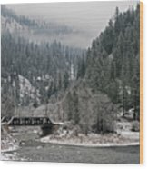 Clearwater River Wood Print