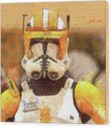 Clone Trooper Commander Wood Print