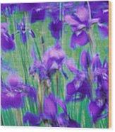 Close-up Of Purple Flowers Wood Print