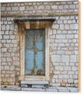 Closed Door Of An Old Chapel In Croatia Wood Print