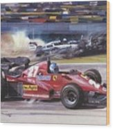 Cma 081 1983 San Marino Gp Imola Patrick Tambay In Ferrari Roy Rob Wood Print