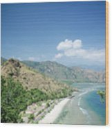 Coast And Beach View Near Dili In East Timor Leste Wood Print