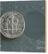 Coin Containing Silver Inhibits Wood Print