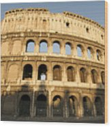 Coliseum. Rome Wood Print by Bernard Jaubert