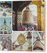 Collage Of Kathmandu  Wood Print