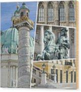Collage Of Vienna Wood Print