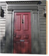 Colonial Red Door Newport Rhode Island Wood Print