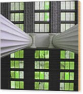 2 Column Stain Green Wood Print