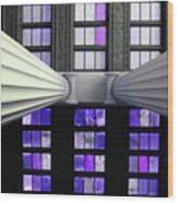 2 Column Stain Purple Wood Print