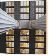 2 Column Stain Yellow Wood Print