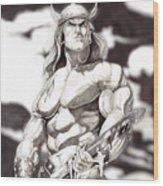 Conan The Barbarian Wood Print