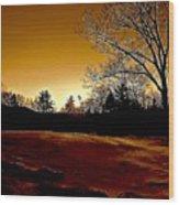 Copper Sunset Wood Print