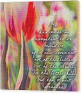 2 Corinthians 3 6 Wood Print