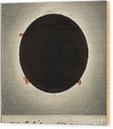 Corona Of The Sun During Total Eclipse Wood Print