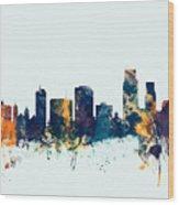 Corpus Christie Texas Skyline Wood Print