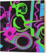 Cosmic Dj Wood Print by Cristophers Dream Artistry