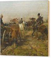 Cossacks Returning Home On Horseback Wood Print