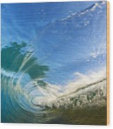 Crashing Wave Tube Wood Print