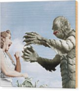 Creature From The Black Lagoon Wood Print by Everett