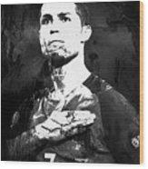 Cristiano Ronaldo Oki Wood Print