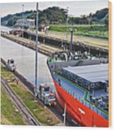 Crossing Panama Canal Wood Print