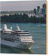 Cruise Ship 4 Wood Print