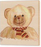 Cuddly Bear Wood Print