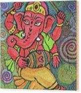 Dancing Ganesha Wood Print