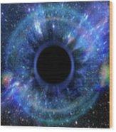 Deep Black Hole, Like An Eye In The Sky Wood Print