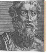 Demosthenes, Ancient Greek Orator Wood Print