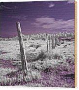 Desertic Landscape Wood Print
