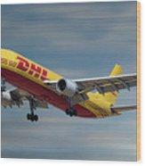 Dhl Airbus A300-f4 Wood Print