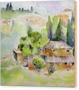 Dievole Vineyard Wood Print