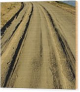Dirt Road Winding Wood Print