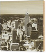Downtown Indianapolis Wood Print