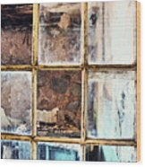 Blue Window Panes  Wood Print