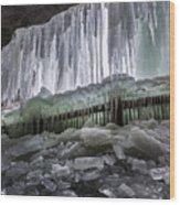 Dry Falls - Highlands, Nc Wood Print