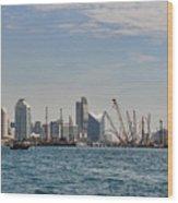 Dubai Creek And Abra Boats Wood Print